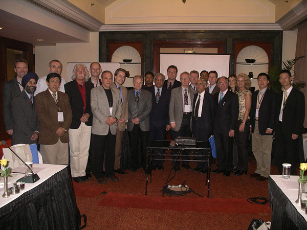 "Participants of the ""Consensus Conference for the Development of Technical Guidelines in Endohernia Surgery"" 2009 in New Delhi."