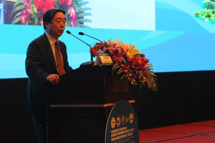 Feng Guosheng, president of Beijing Chao-Yang Hospital, Capital Medical University addressed the conference