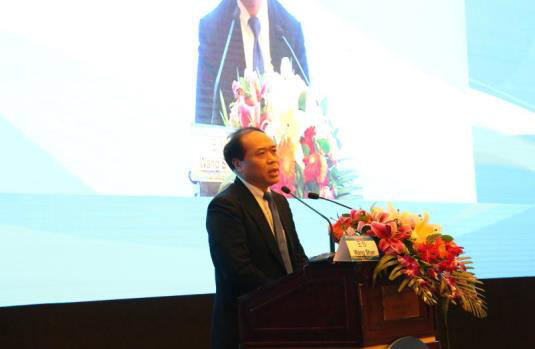 Professor Wang Shan, president of Chinese College of Surgeons addressed the conference
