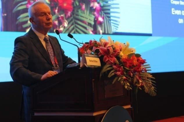 Professor Bittner, chairman of the conference addressed the conference